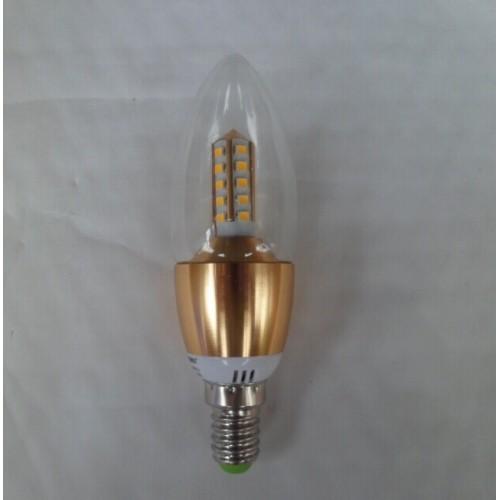 5w e14 smd2835 led candle light candle flame shape silver gold 3000k 40. Black Bedroom Furniture Sets. Home Design Ideas