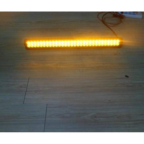 180w 33 80cm Amber Amp White Cree Led Double Row Strobe