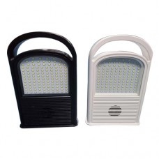100W Solar Powered Rechargeable Handheld LED Floodlight Work Light Lamp with Battery Loudspeaker