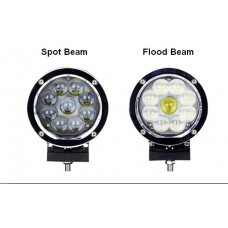45W/60W Cree LED Work Light Offroad Driving Light Fog Auxiliary Lamp Jeep Boot Yacht 12V 24V IP67 Round